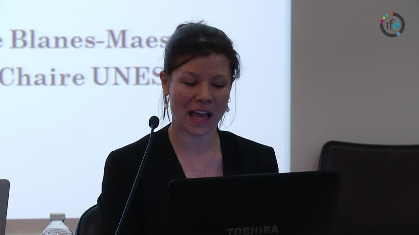 vignette-http://video.ens-lyon.fr/ife-f2f/2014/2014-01-23_UNESCO_Celine_Blanes_Maestre_fr.webm
